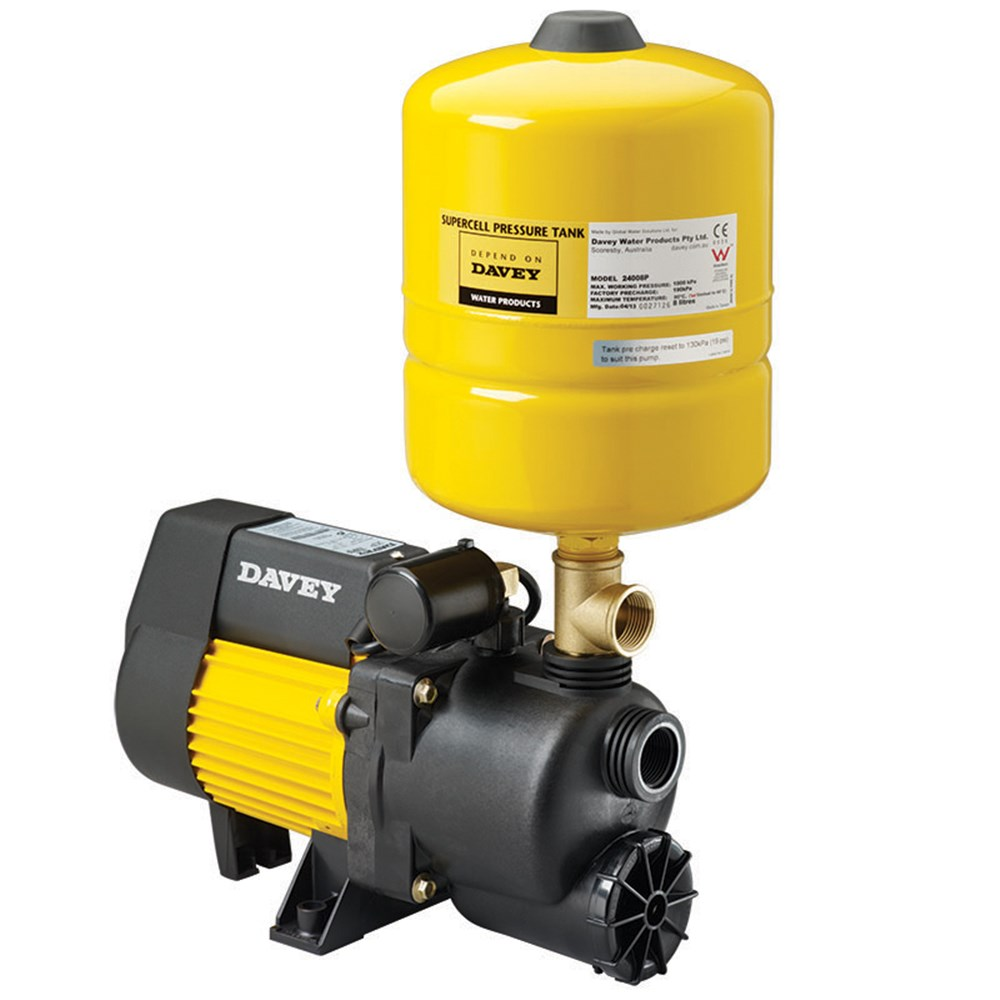 Davey Xp Series With Pressure Tank Home Pressure Systems