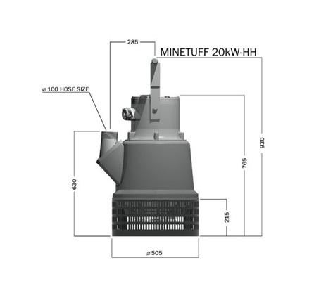 Minetuff 20kW Mine Dewatering Pump