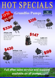 Grundfos Pumps HOT SPECIALS