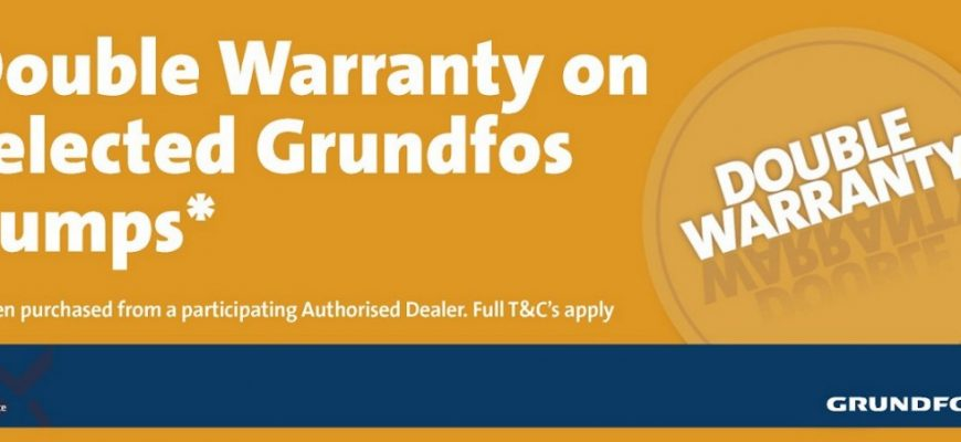 Grundfos Pumps Double Warranty Adelaide