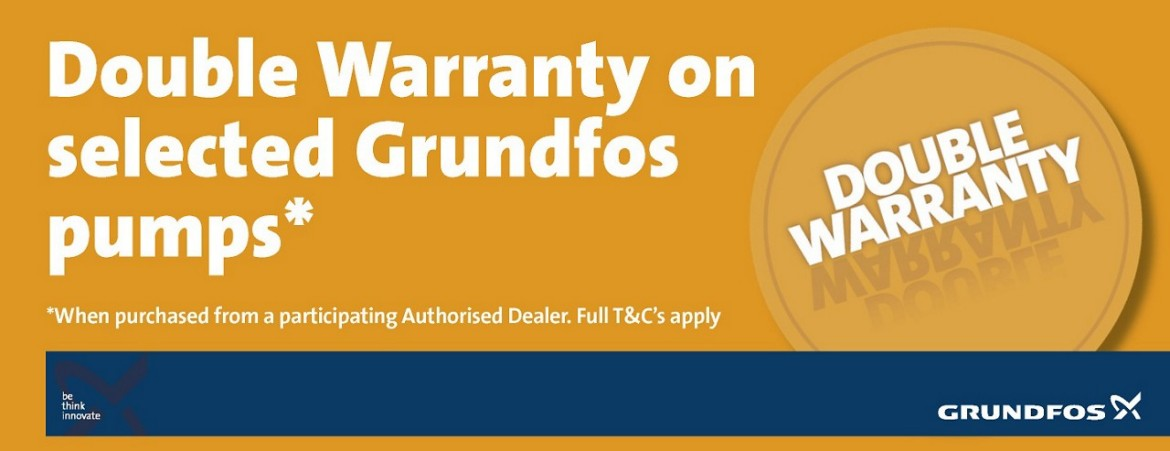 Grundfos Double Warranty Available at AEM