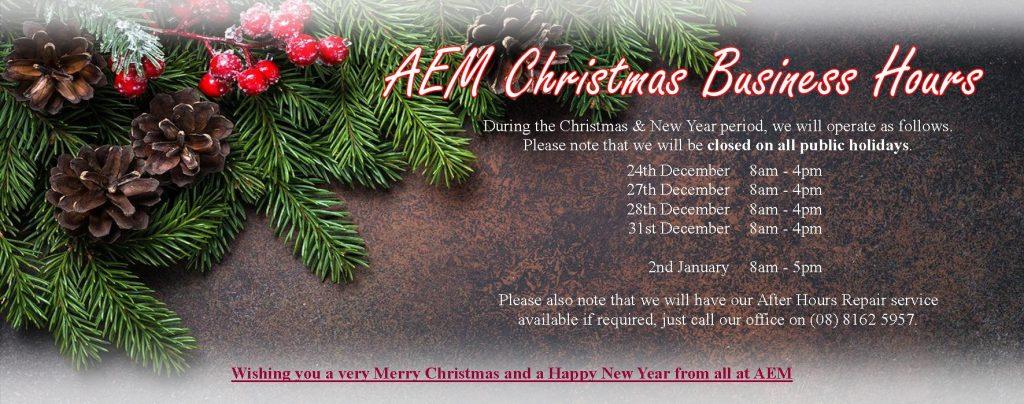 AEM Christmas hours