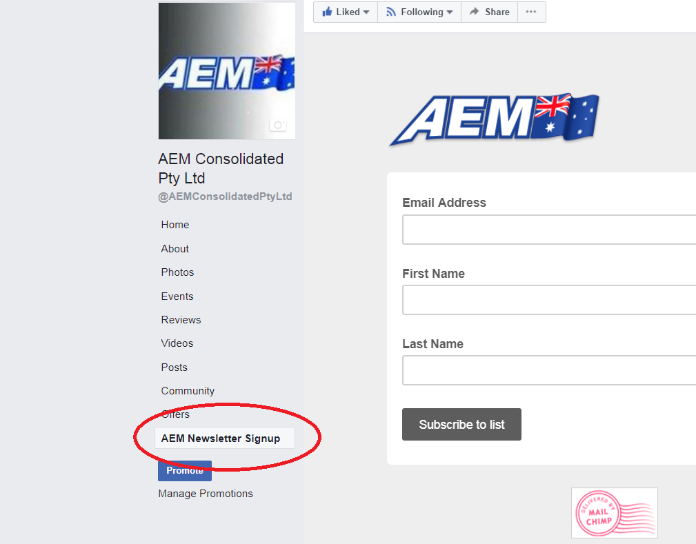 AEM newsletter subscription