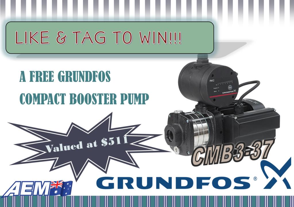 WIN a FREE Grundfos CMB3-37